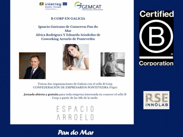 As dúas únicas empresas galegas que contan co selo B Corp visitan a oficina da RSE-Innolab
