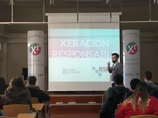 Xeración Responsable achega a RSE ao IES Muralla Romana de Lugo (Fotografías da xornada)