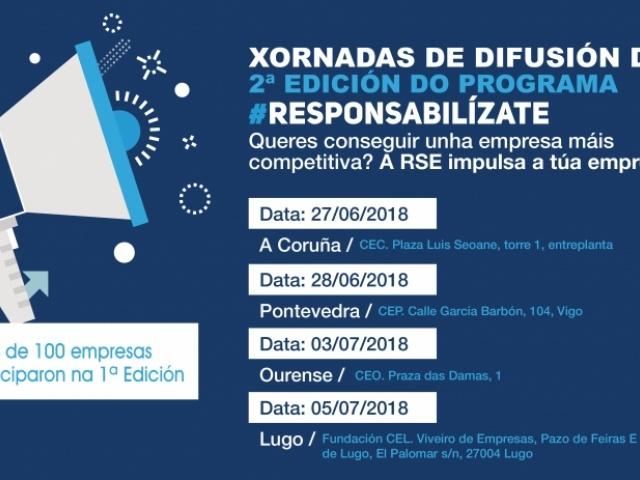 Xornadas de presentación da segunda edición do programa Responsabilízate