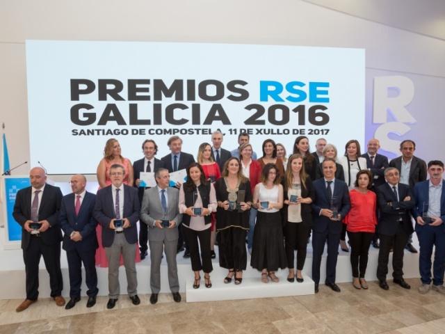 Os Premios RSE Galicia 2016 recoñecen o traballo en responsabilidade social de doce empresas