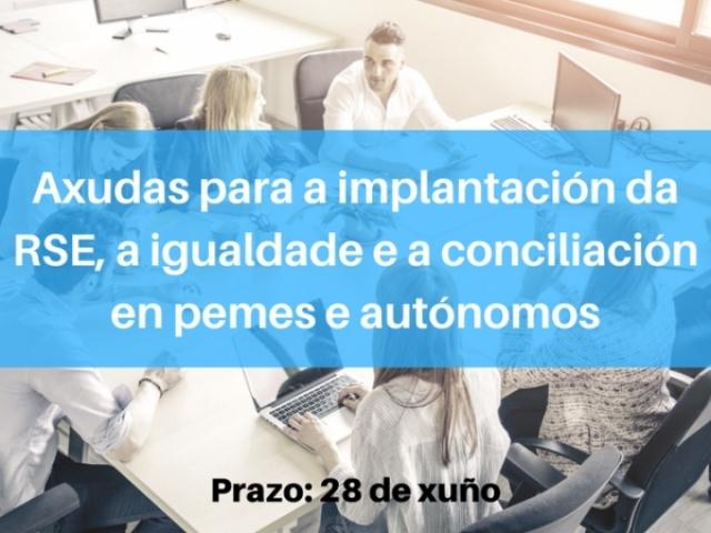 La Xunta abre las solicitudes de las ayudas para implantar la RSE, la igualdad y la conciliación