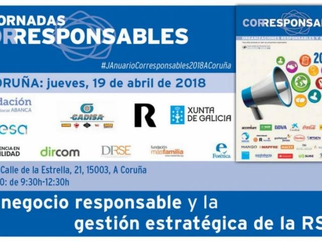 La Xunta de Galicia participa en la Jornada Corresponsables que tendrá lugar en A Coruña