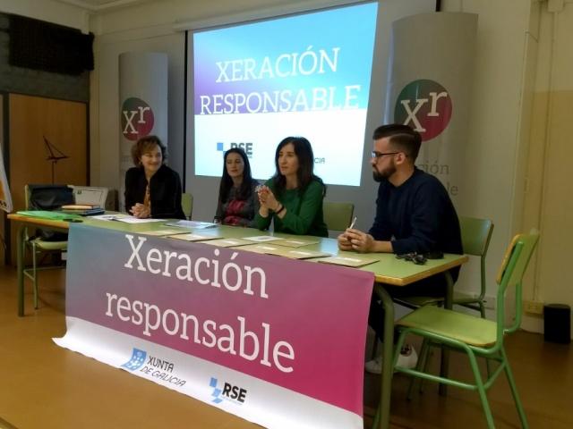 O alumnado do IES Urbano Lugrís da Coruña reflexionou sobre RSE (Fotografías da xornada)